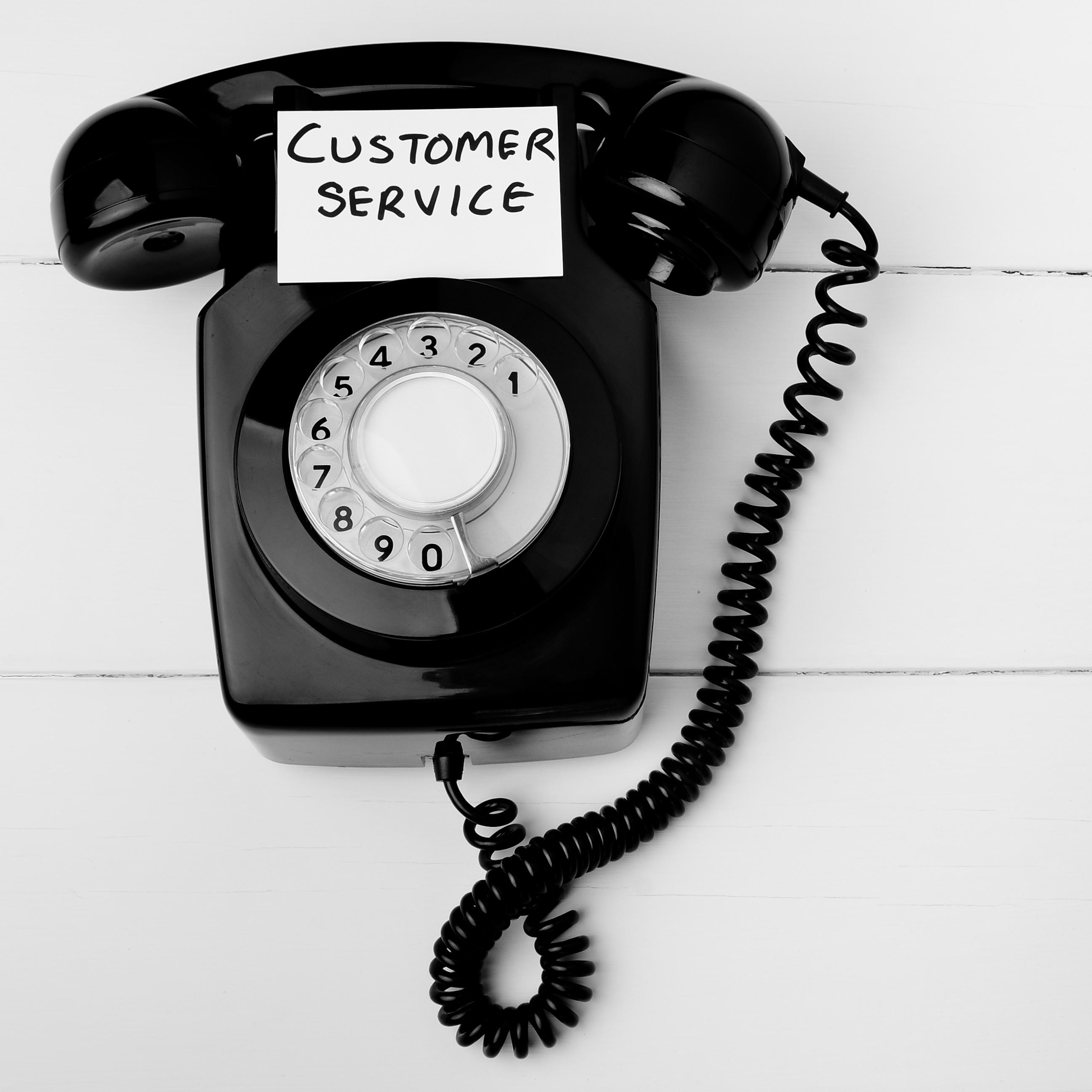 Old fashioned customer service concept