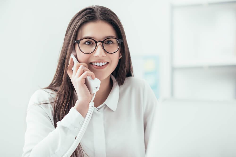 Secretary Answering Phone Calls