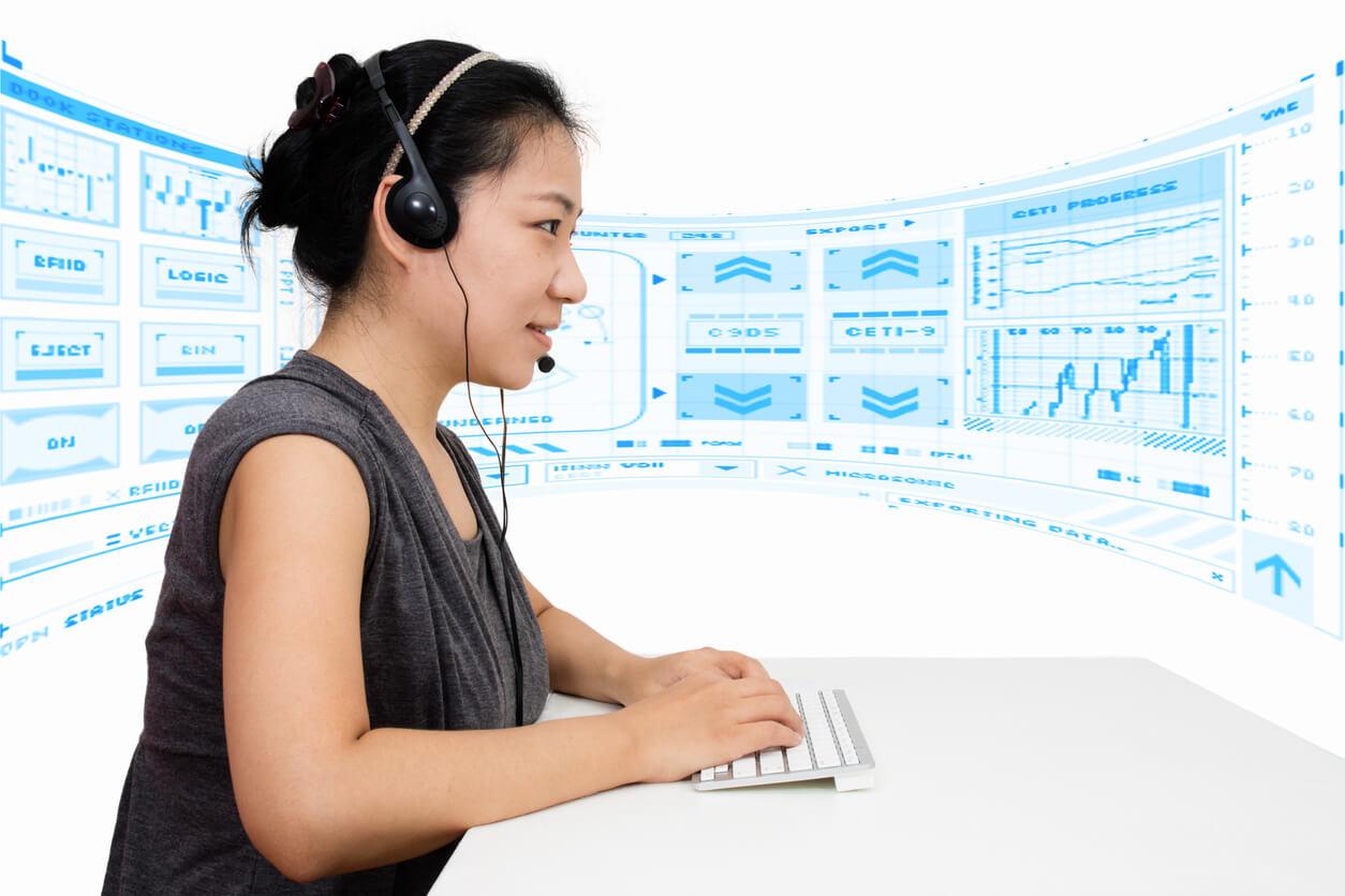 women sitting in virtual reception